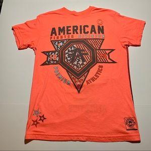 American Fighter tshirt women sz M 2 sided print